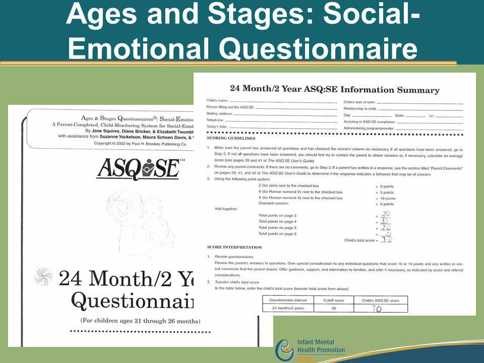 Ages and Stages: Social-Emotional Questionnaire