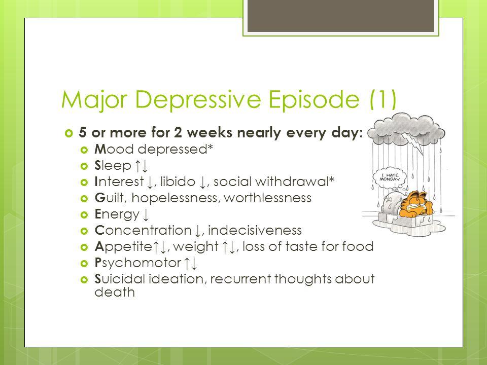 Major Depressive Episode (1)
