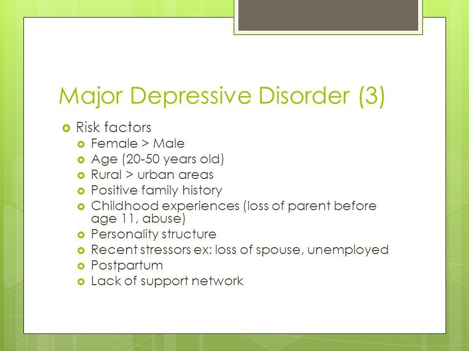Major Depressive Disorder (3)