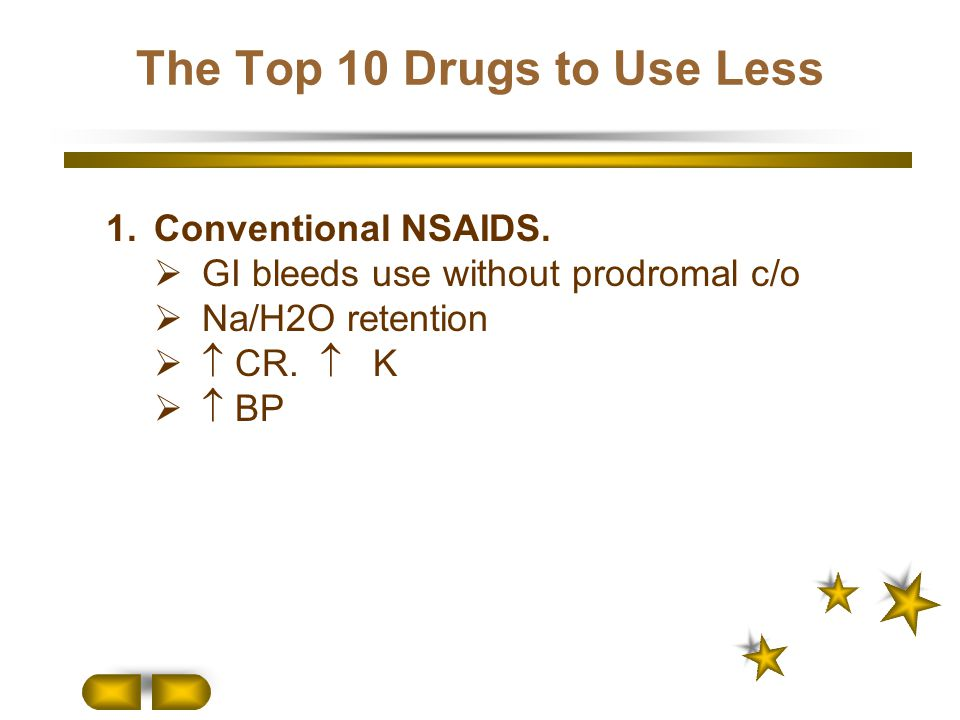 The Top 10 Drugs to Use Less