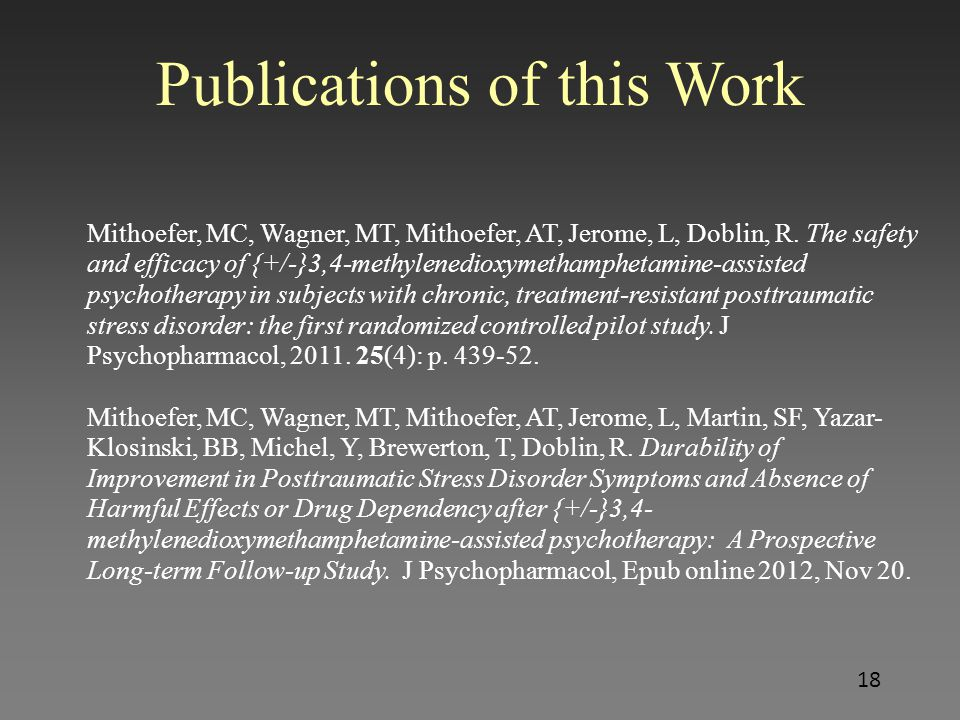 Publications of this Work