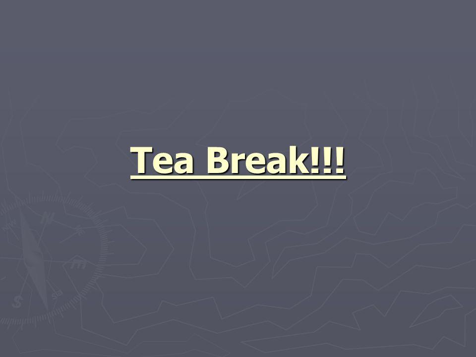 Tea Break!!!