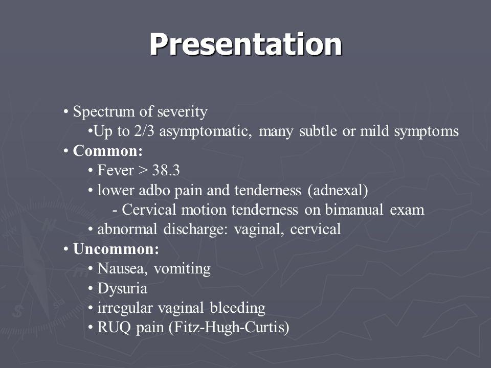 Presentation Spectrum of severity