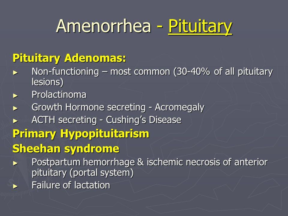 Amenorrhea - Pituitary