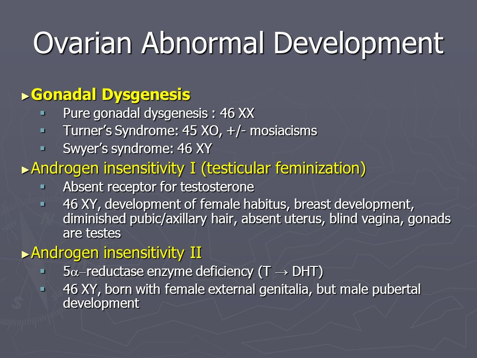 Ovarian Abnormal Development