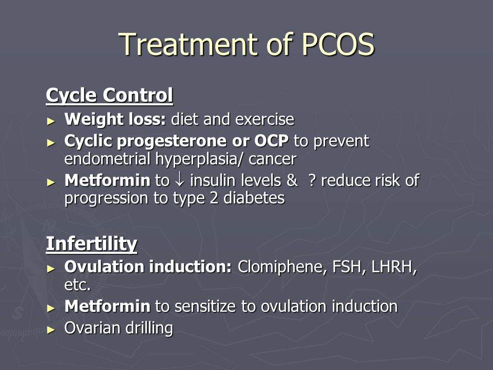 Treatment of PCOS Cycle Control Infertility