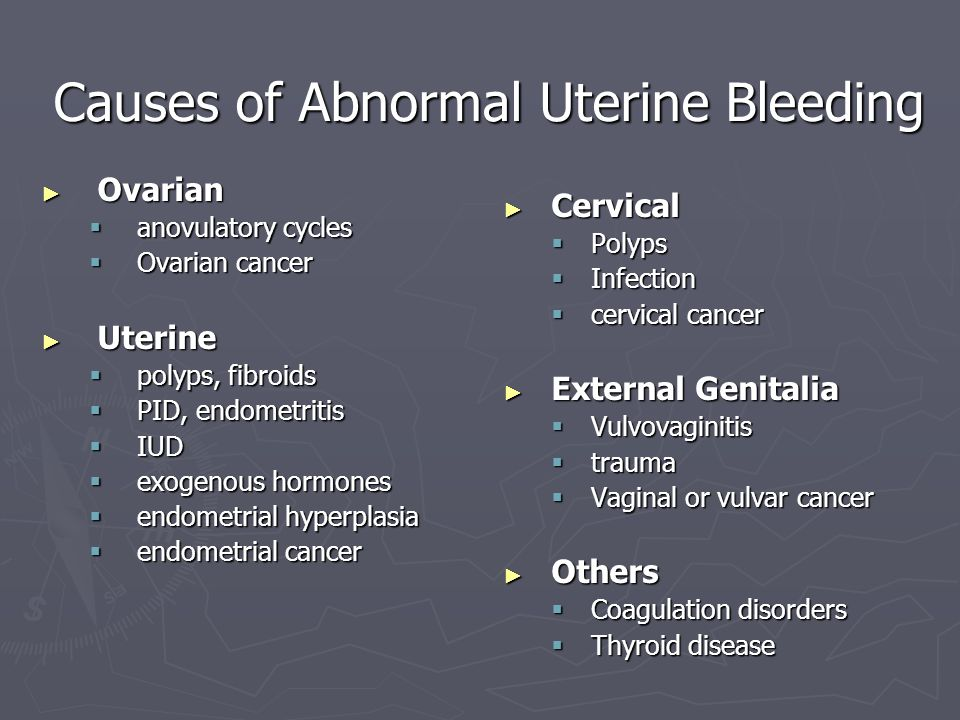 Causes of Abnormal Uterine Bleeding