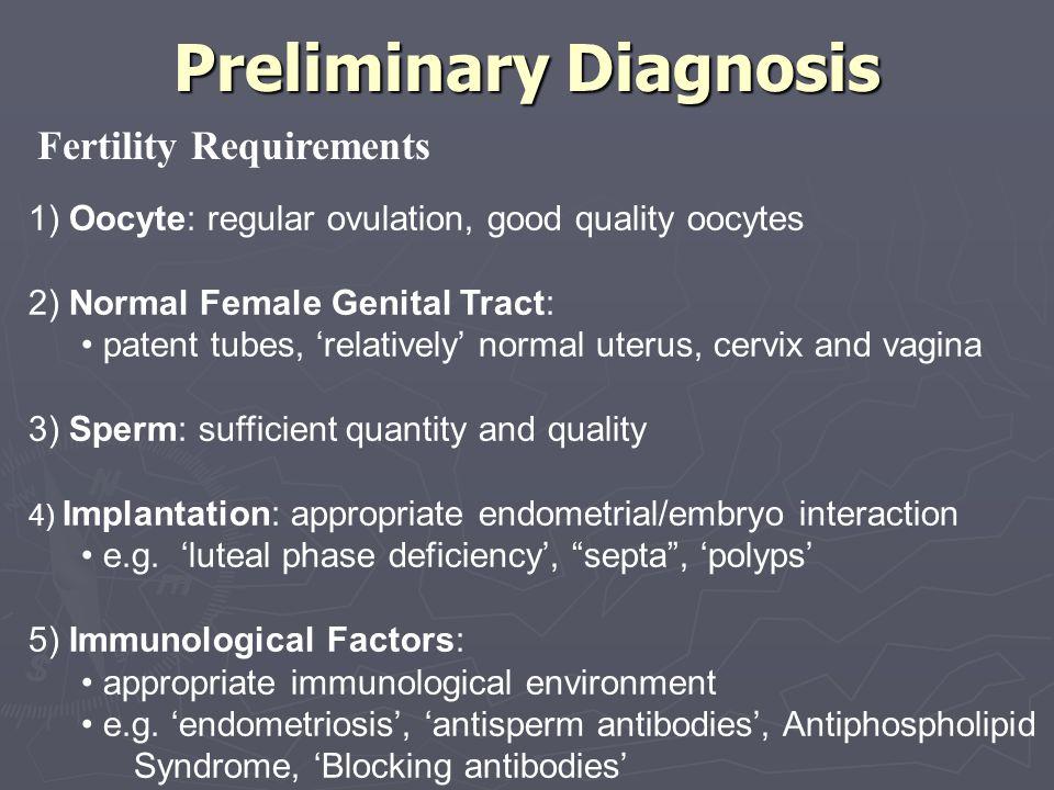 Preliminary Diagnosis