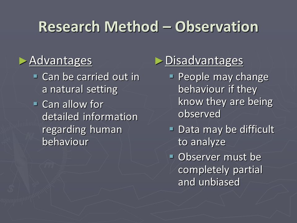 Research Method – Observation