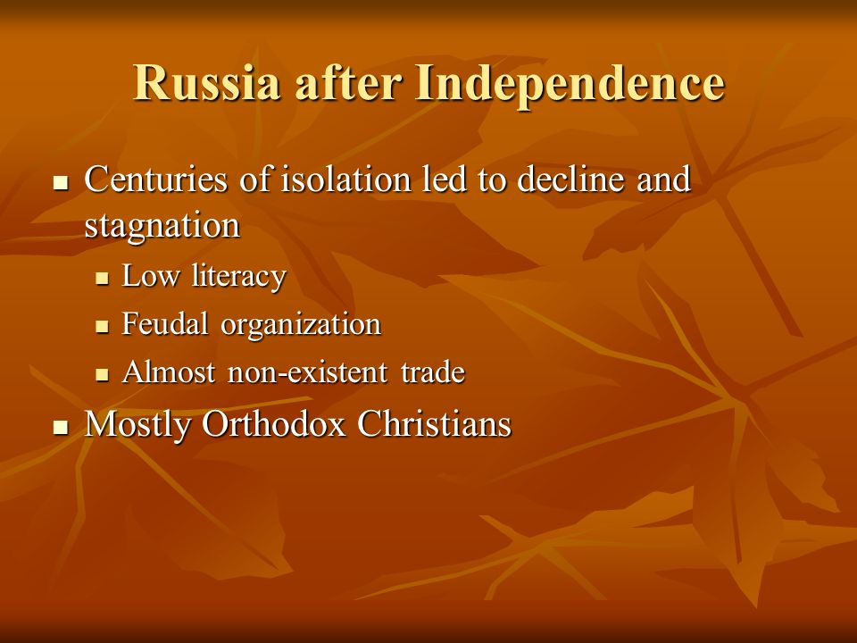 Russia after Independence