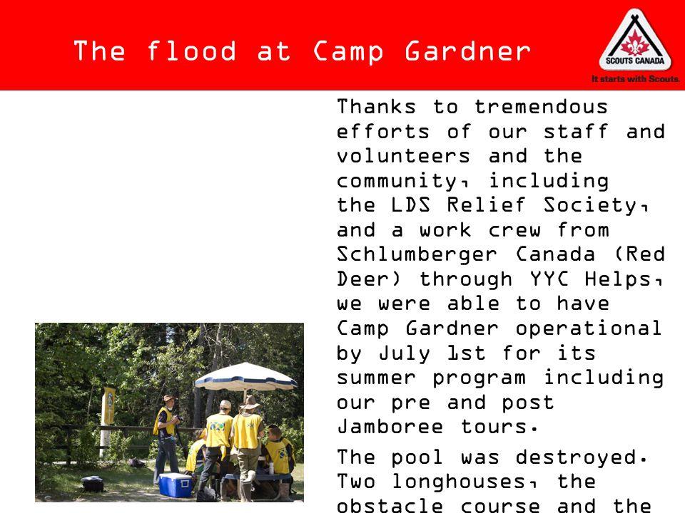 The flood at Camp Gardner