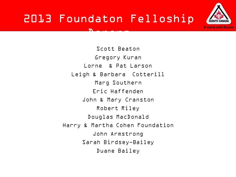 2013 Foundaton Felloship Donors