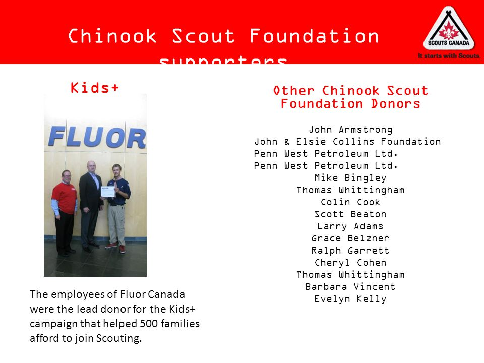 Chinook Scout Foundation supporters