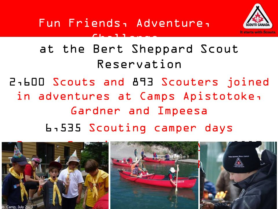 at the Bert Sheppard Scout Reservation