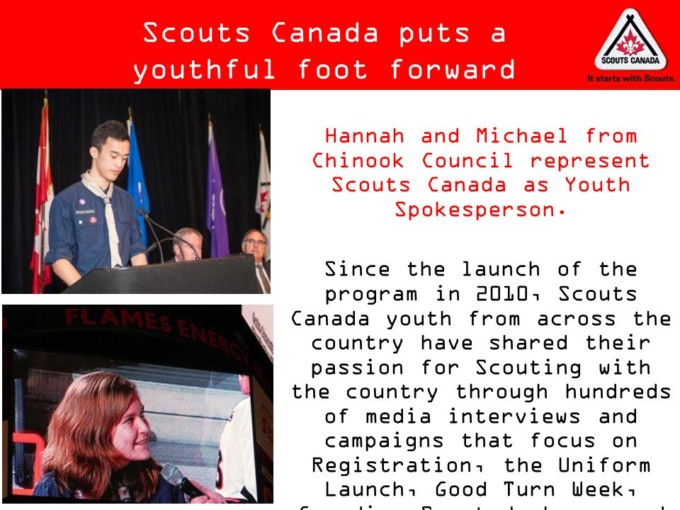 Scouts Canada puts a youthful foot forward
