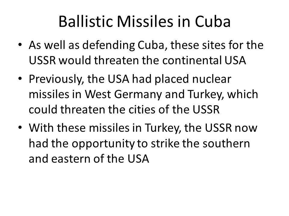 Ballistic Missiles in Cuba