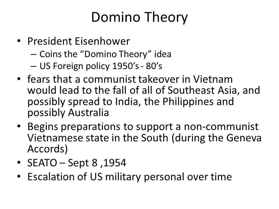 Domino Theory President Eisenhower