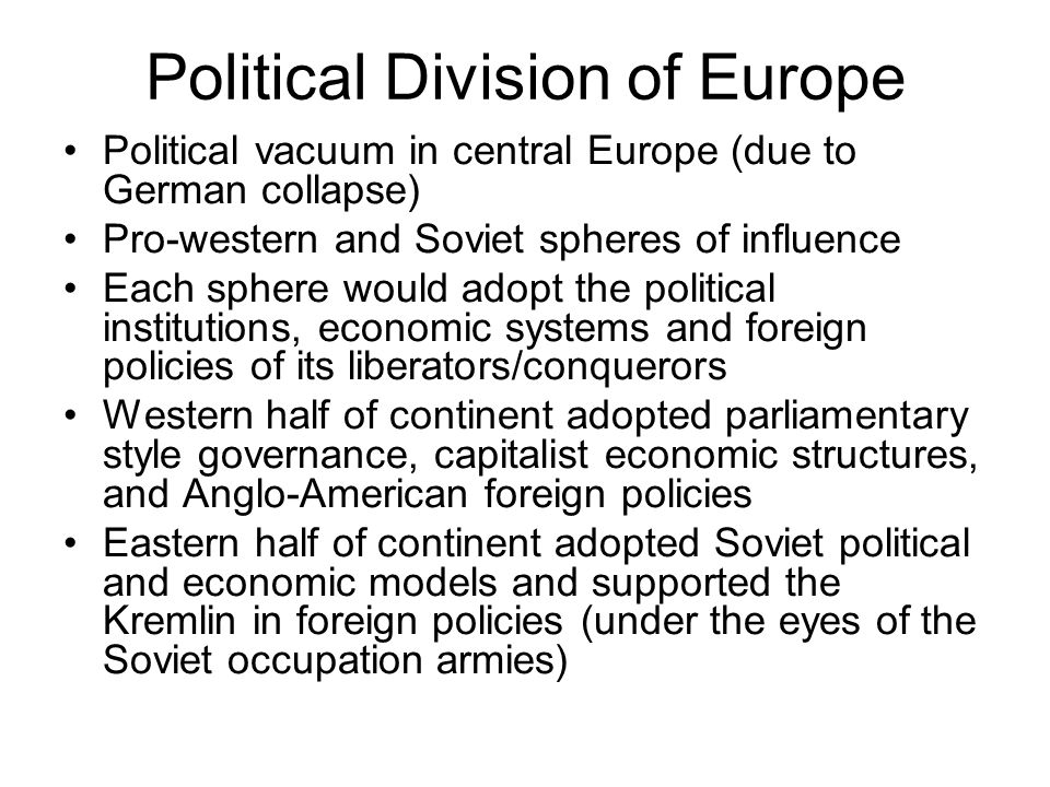Political Division of Europe