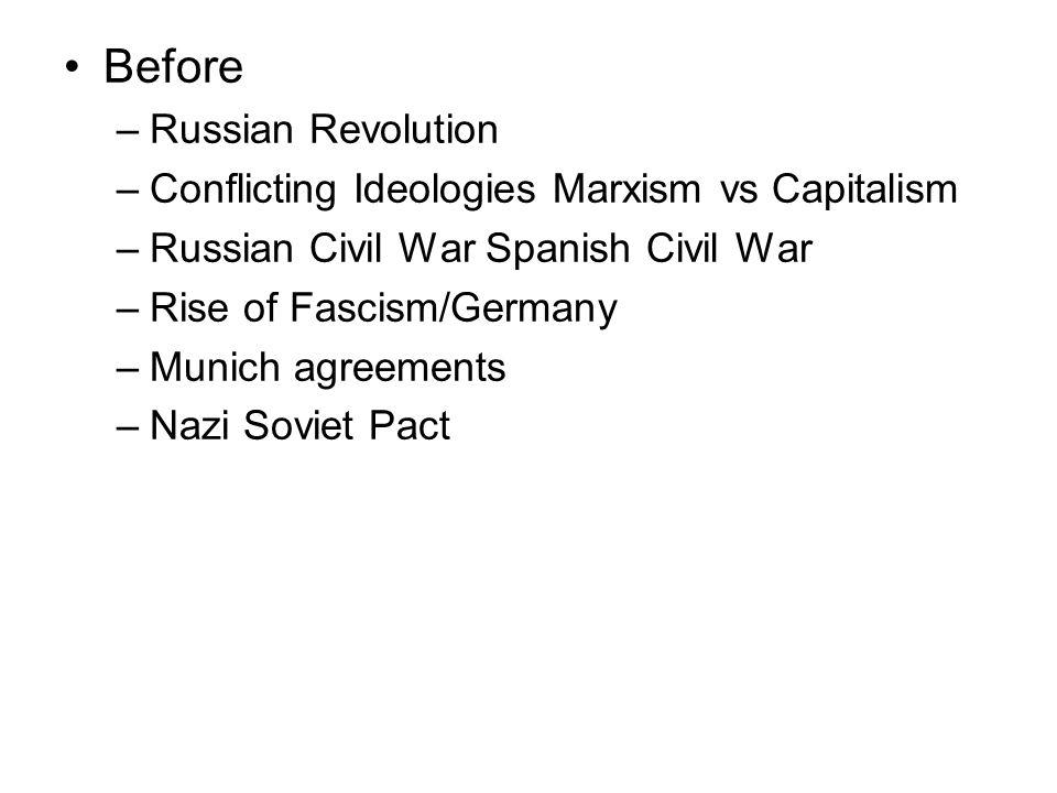 Before Russian Revolution Conflicting Ideologies Marxism vs Capitalism
