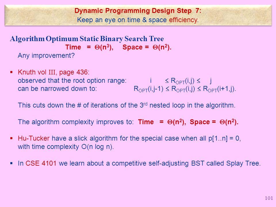 Dynamic Programming Design Step 7: