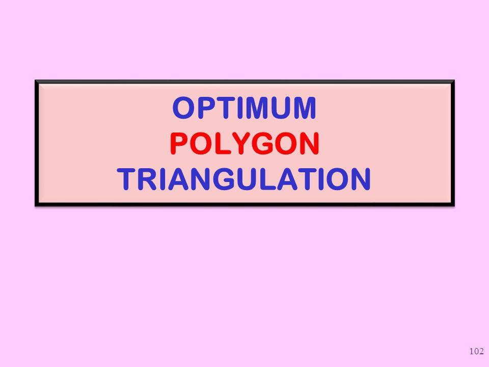 OPTIMUM POLYGON TRIANGULATION