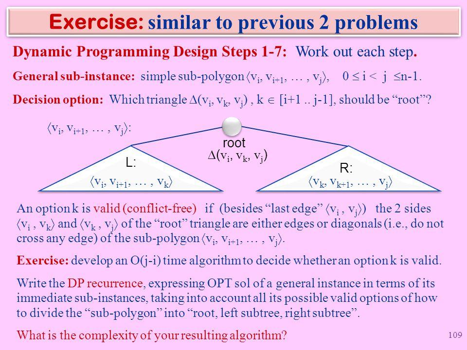 Exercise: similar to previous 2 problems