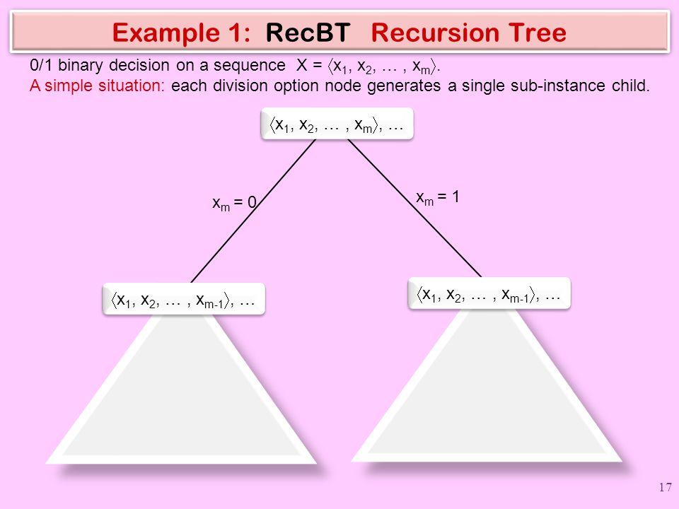 Example 1: RecBT Recursion Tree