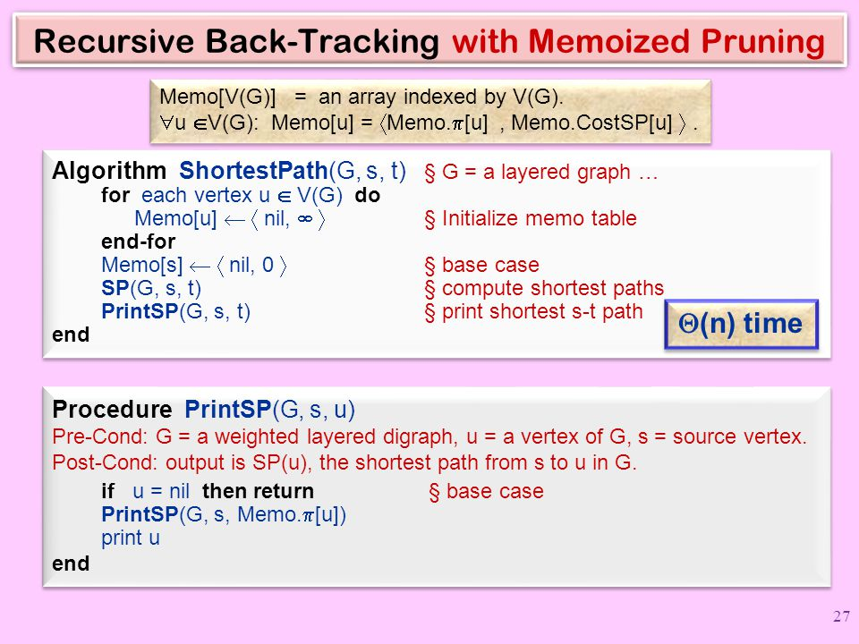 Recursive Back-Tracking with Memoized Pruning