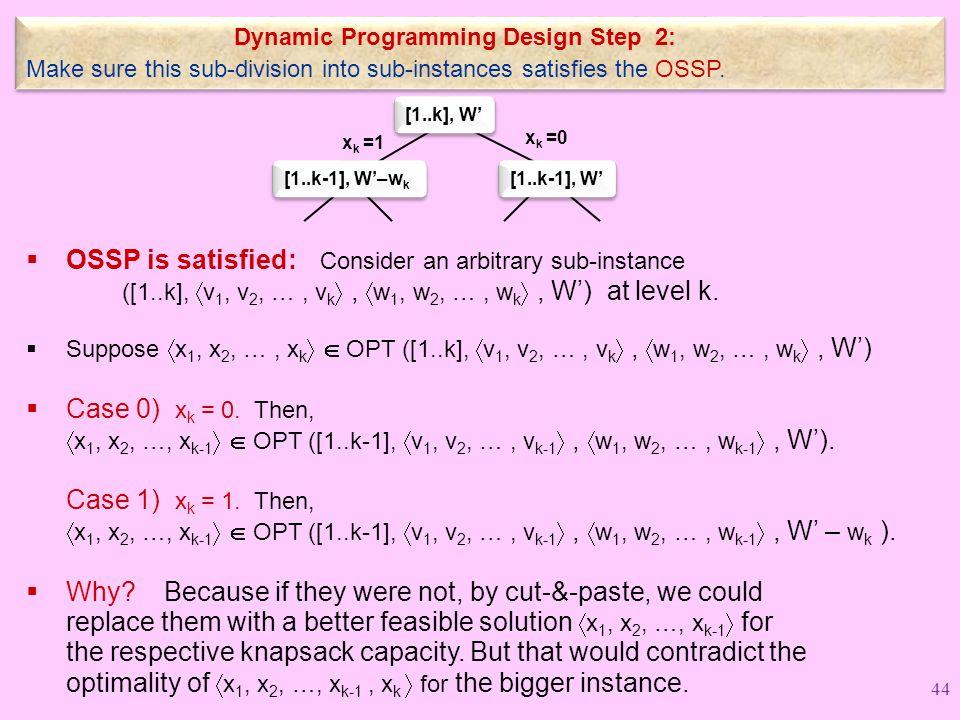 Dynamic Programming Design Step 2: