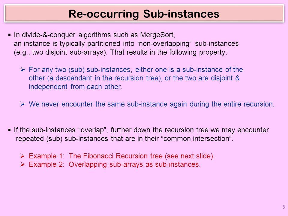 Re-occurring Sub-instances