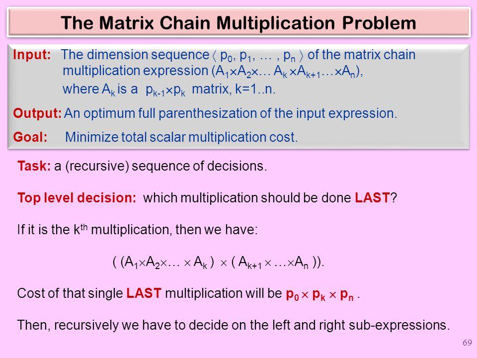 The Matrix Chain Multiplication Problem