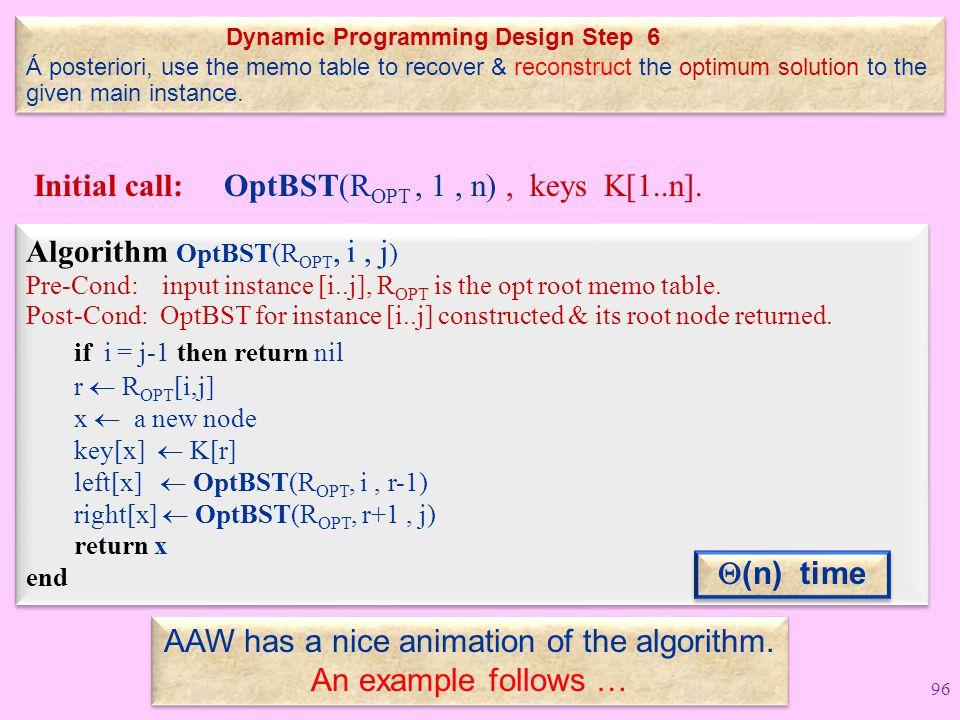 Dynamic Programming Design Step 6