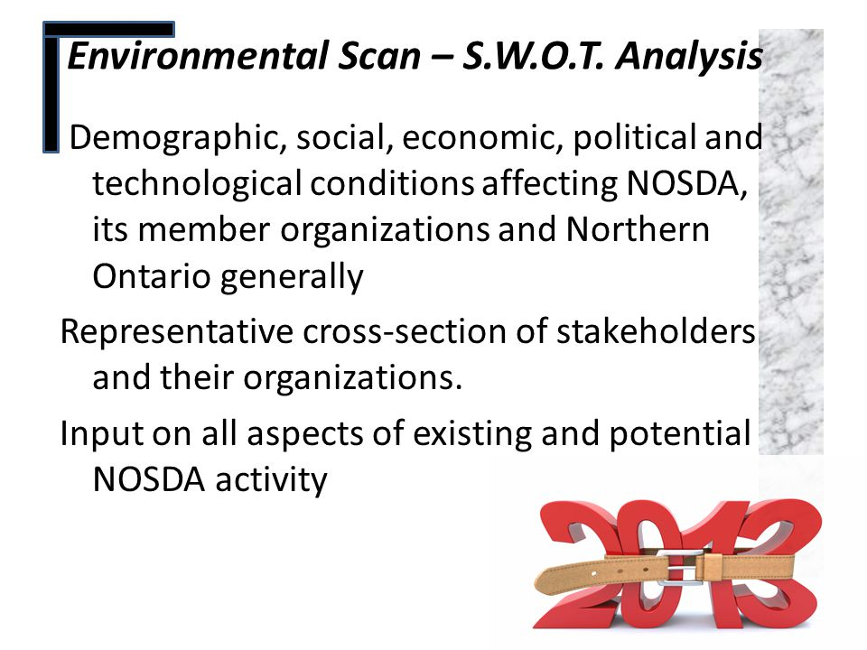 Environmental Scan – S.W.O.T. Analysis