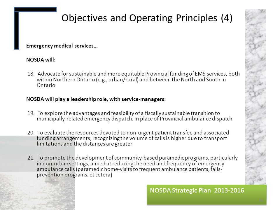 Objectives and Operating Principles (4)