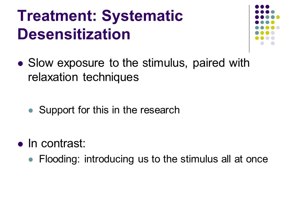 Treatment: Systematic Desensitization