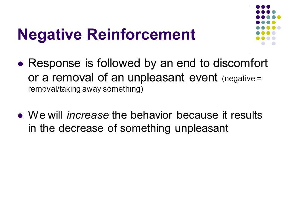 Negative Reinforcement
