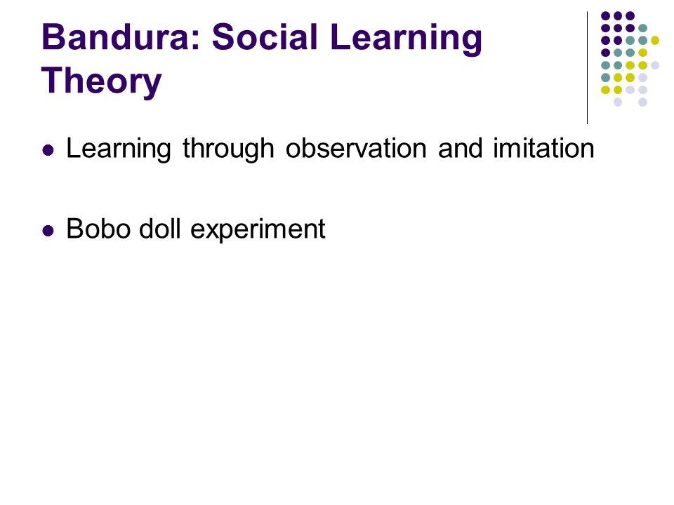 Bandura: Social Learning Theory