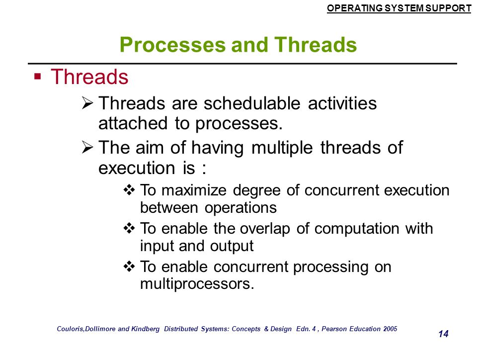Processes and Threads Threads