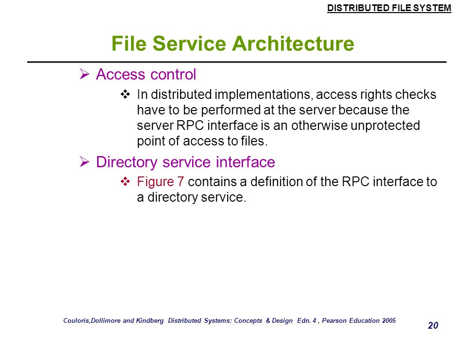 File Service Architecture