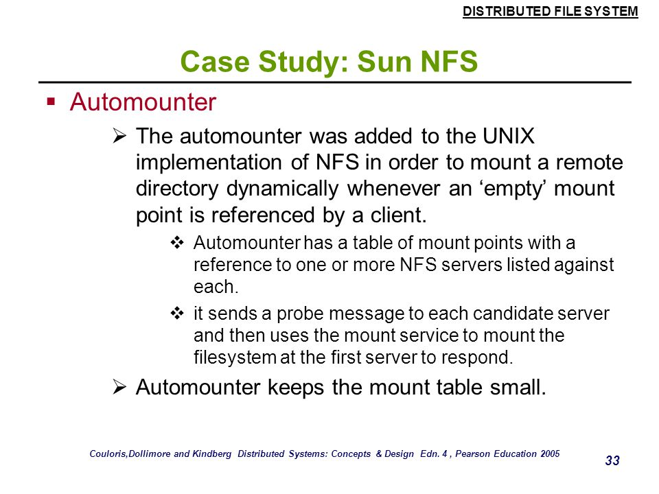Case Study: Sun NFS Automounter