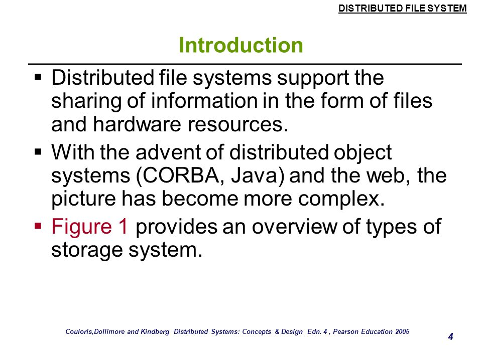 Figure 1 provides an overview of types of storage system.