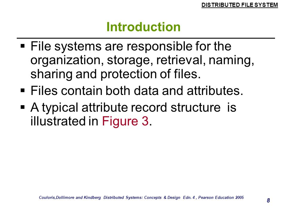 Files contain both data and attributes.