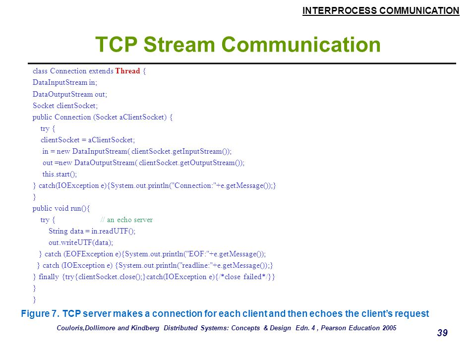 TCP Stream Communication