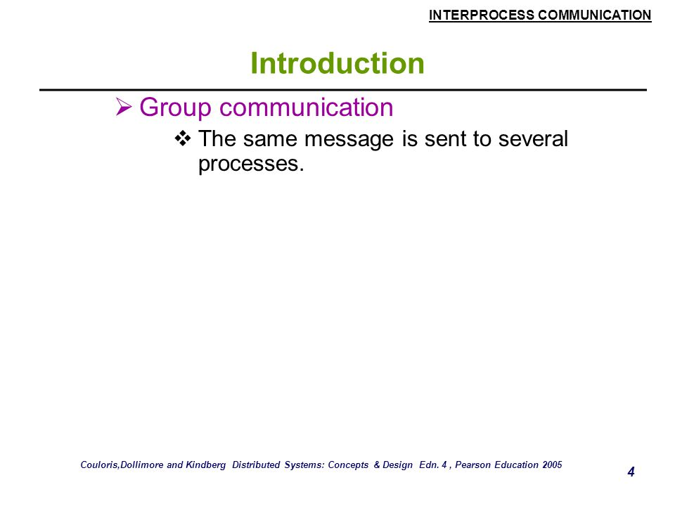 Introduction Group communication