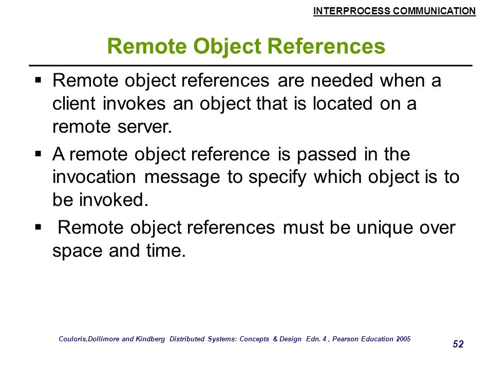 Remote Object References