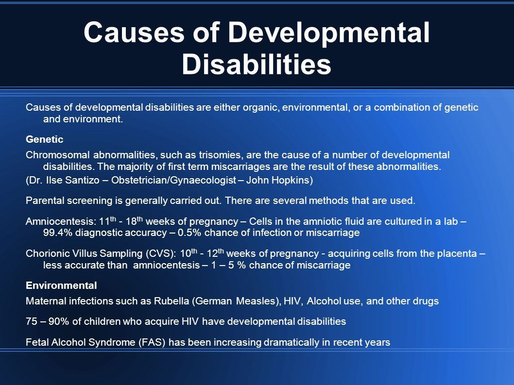 Causes of Developmental Disabilities