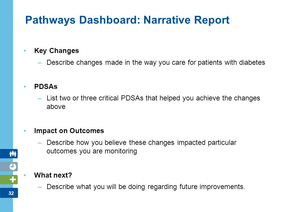 Pathways Dashboard: Narrative Report