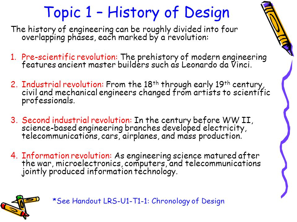 Topic 1 – History of Design