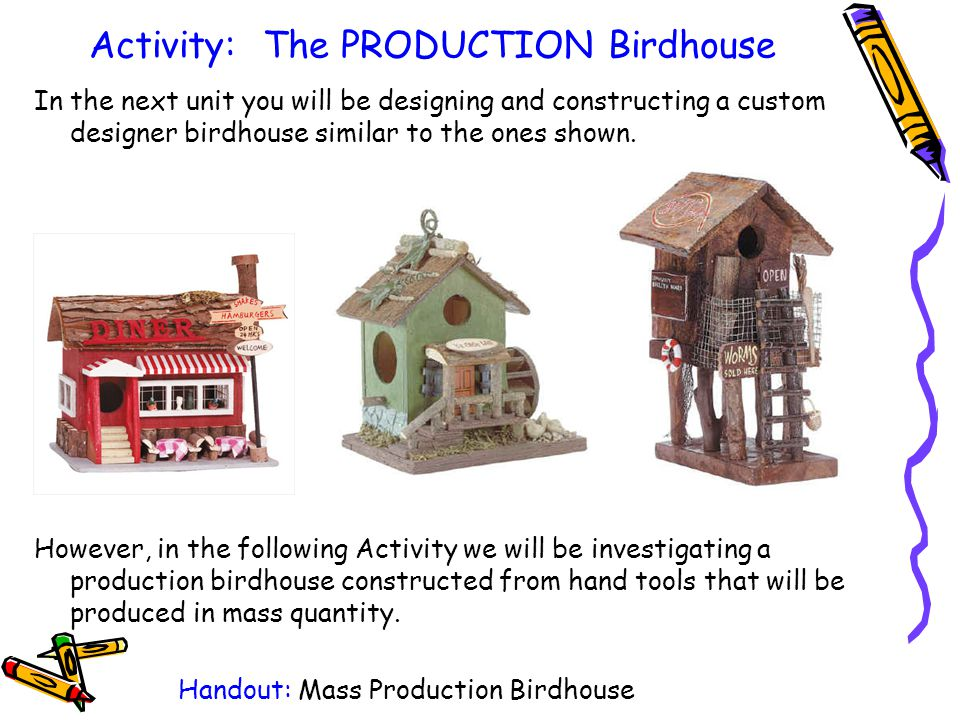 Activity: The PRODUCTION Birdhouse