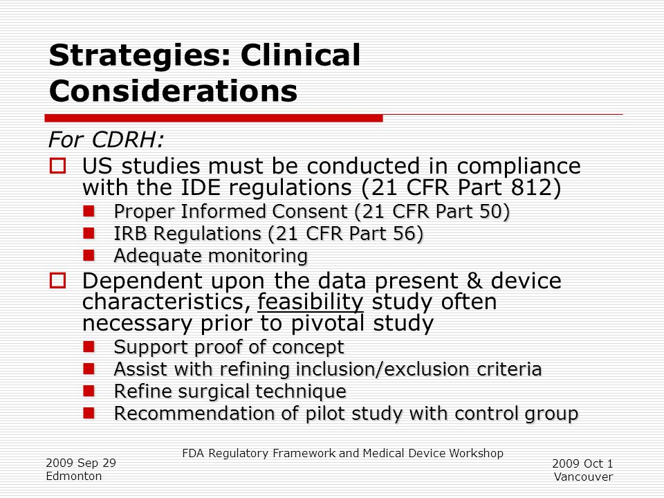 Strategies: Clinical Considerations